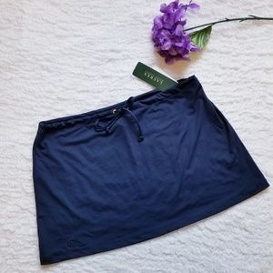 NWT Swim Skirt by Lauren Ralph Lauren Navy Medium